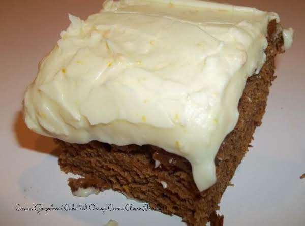 Gingerbread Cake W/ Orange Cream Cheese Frosting