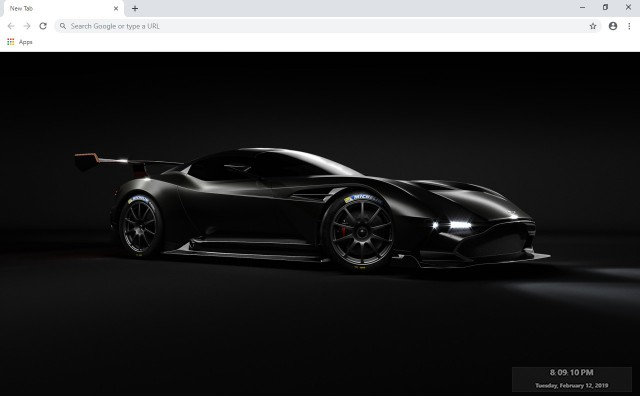 Aston Martin Vulcan New Tab Theme
