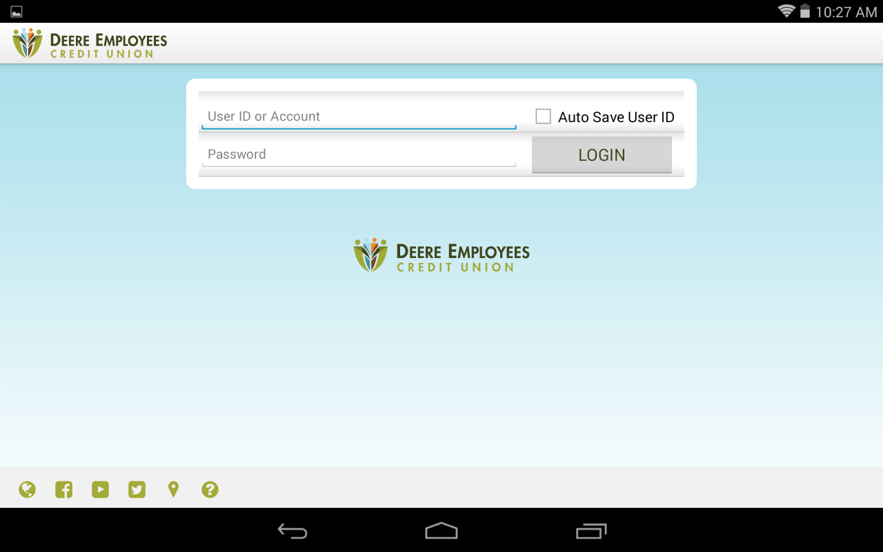 Deere Employees CU mBanking- screenshot