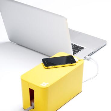 BlueLounge 電線/電拖板收納盒(細) - 黃色