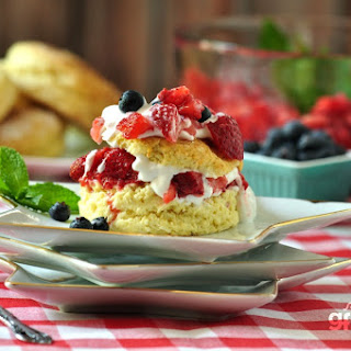 Red, White and Blue Gluten Free Shortcake