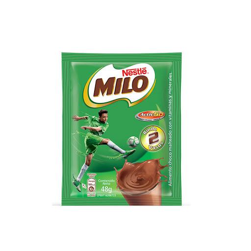 bebida en polvo milo chocolate malteado 48gr