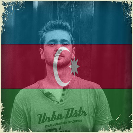 Azerbaijan Flag On Face Maker : Photo Editor