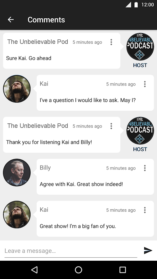 The Unbelievable Podcast- screenshot