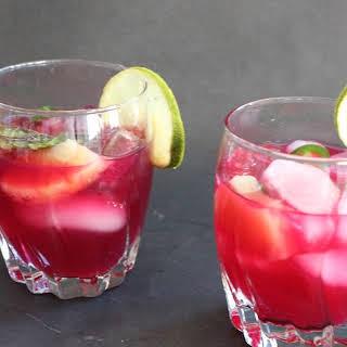 Pineapple Hibiscus Cocktail.