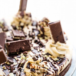 Andes Mint Chocolate Brownie Cheesecake.
