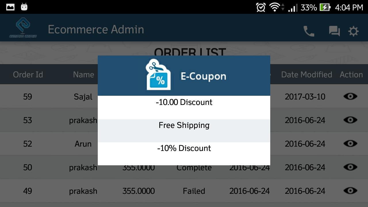 Ecommerce Admin- screenshot