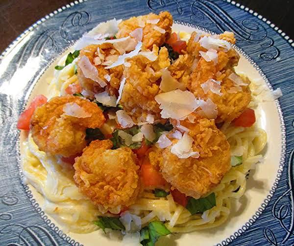 Fried Shrimp & Angel Hair Pasta