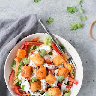 Buffalo Tofu Salad Recipe
