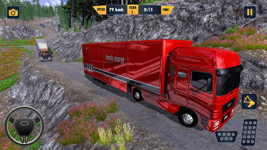 American Truck Cargo Car Transporter Driving - náhled