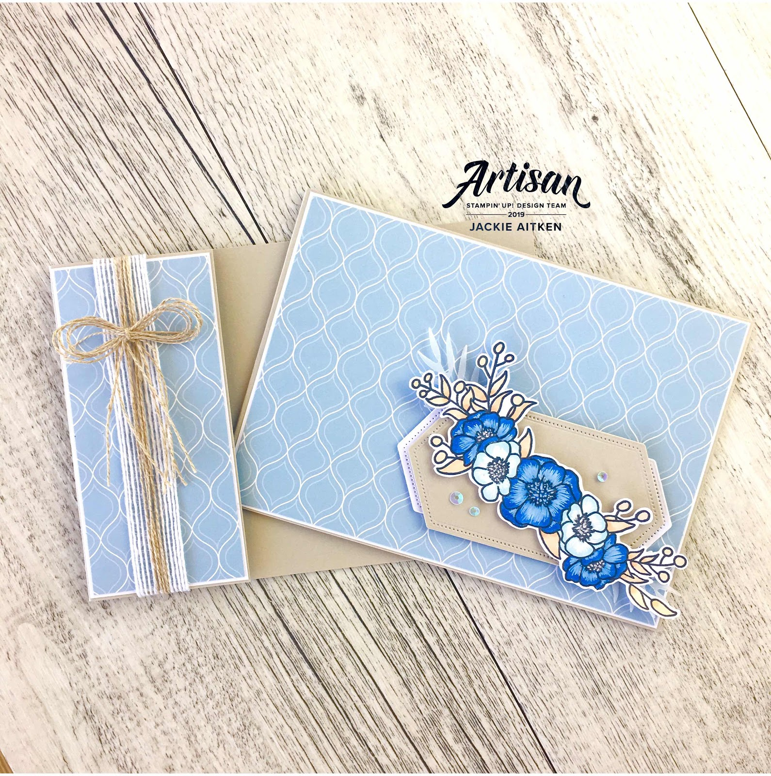 Jaxx Crafty Creations, Stampin' Up! Artisan, Bloom & Grow, Floral Card, Gift Packaging, Mini Calendar, Pillow Box, Seaside Spray, 2019-2021 In Colours,  Happy Mail, Be Inspired Blog Hop