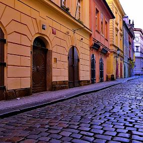 lonely street by Abhinav Ganorkar - City,  Street & Park  Street Scenes ( street, street scene, cityscape, roads, city )