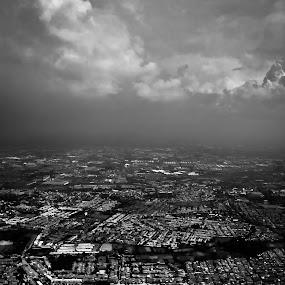 Beauty? by Aditya Kusuma - City,  Street & Park  Street Scenes ( balck, indonesia, fill, white, pollution, jakarta, landscape, city, and, crowded )
