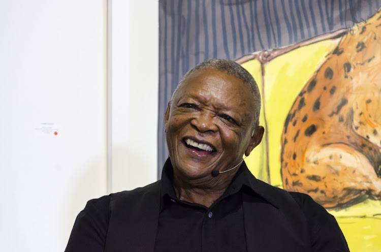 The late legendary jazz musician Hugh Masekela