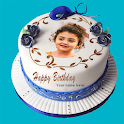 Birthday Cake with Name and Photo on Cake icon