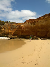 Photo: A beach at one of the scenic sites along the Great Ocean Road