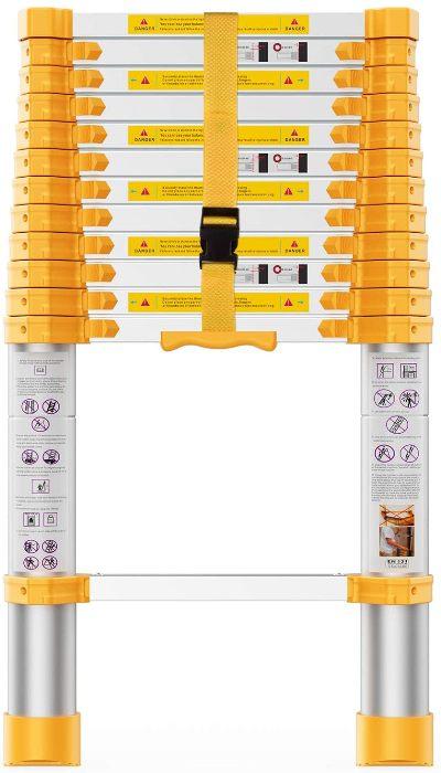 BOWEITI 12.5FT Aluminum Telescoping Ladder