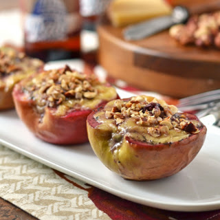 Wisconsin Edam Baked Apples with Hazelnuts