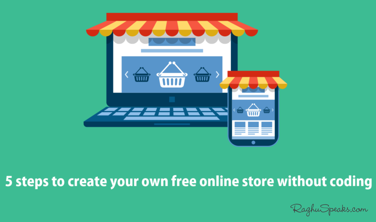 5 steps to create own free online store without coding