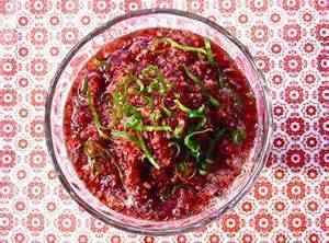 Cranberry-lime Relish Recipe