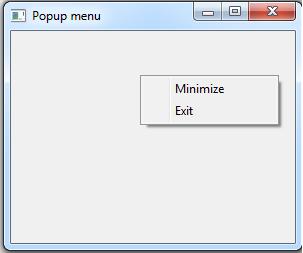 Java SWT - Popup Menu