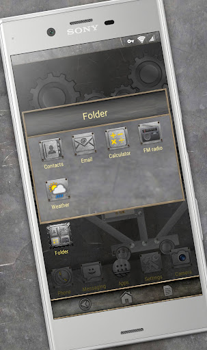 Trees of Gear  (metal live)| Xperia™ Theme + icons app for Android screenshot
