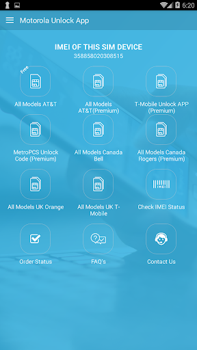 Free Unlock Motorola Mobile SIM 1.5.14 screenshots 1