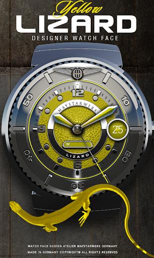 Yellow Lizard Watch Face