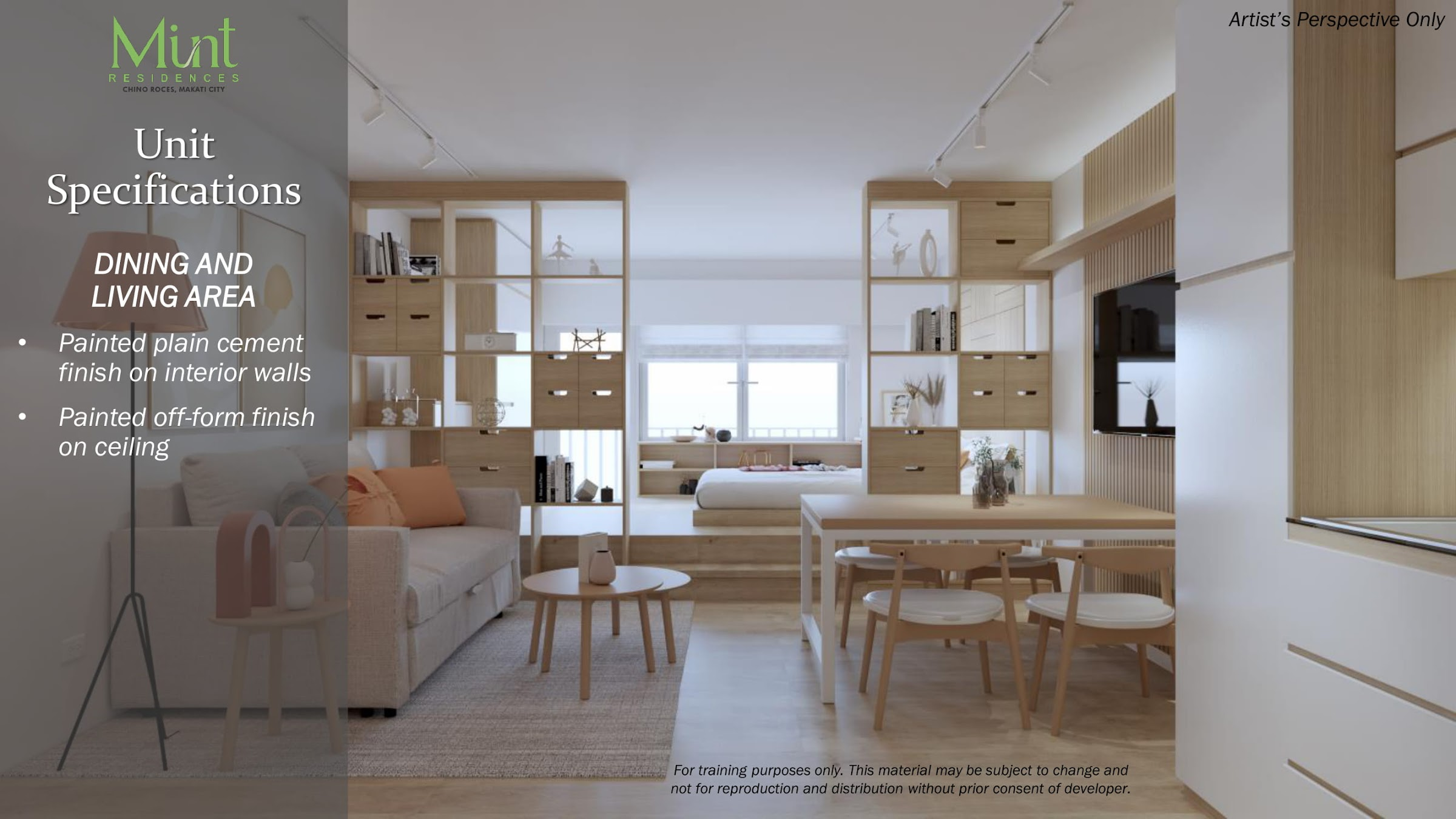 Mint Residences, Chino Roces Makati unit finishes