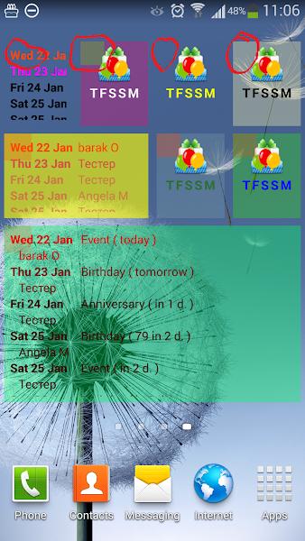 Birthdays Manager Reminder