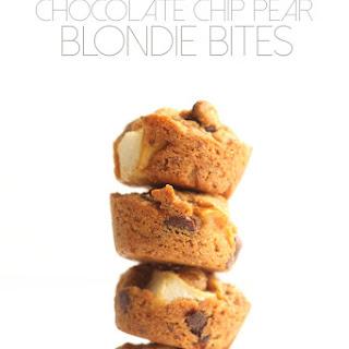 Chocolate Chip Pear Blondie Bites