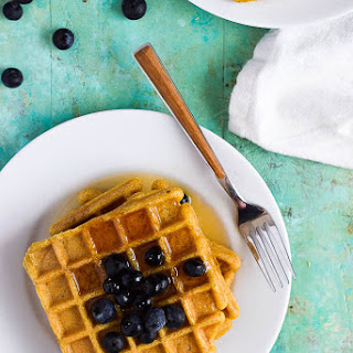 Sweet Plantain Waffles.
