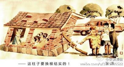 Photo: 张滨漫画:这柱子要换根结实的