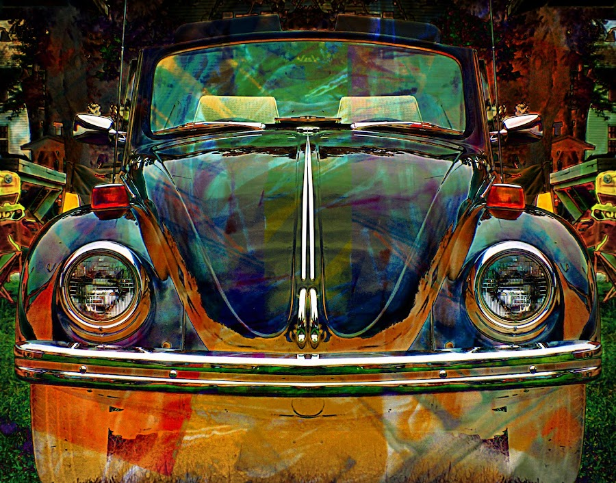 Jitter Bug by Ryne Slater - Digital Art Things ( abstract, colorful, art, v w, print, classic, volkswagon )