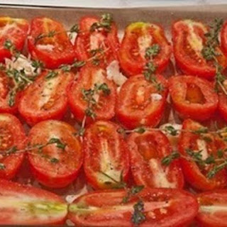 Oven Roasted and Marinated Tomatoes.