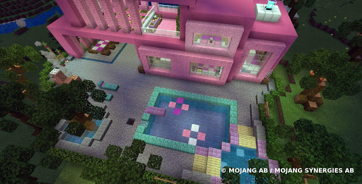 Pink house with furniture. Craft maps and mods 1.0.1 screenshots 10