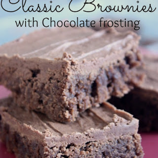 Classic Brownies with Chocolate Frosting.