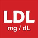 LDL-C - LDL cholesterol mg/dL icon