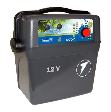 Elstängselaggregat Swedguard Pro + B600 - 12 Volt Batteri *