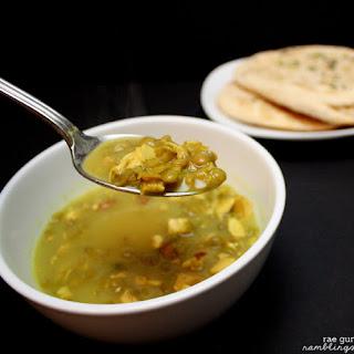 Coconut Curry Chicken Lentil Soup.