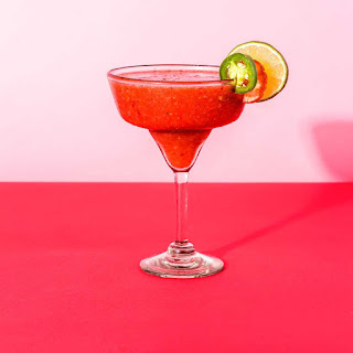 Spice Up Your Valentine's Day With Strawberry Jalapeño Margaritas.