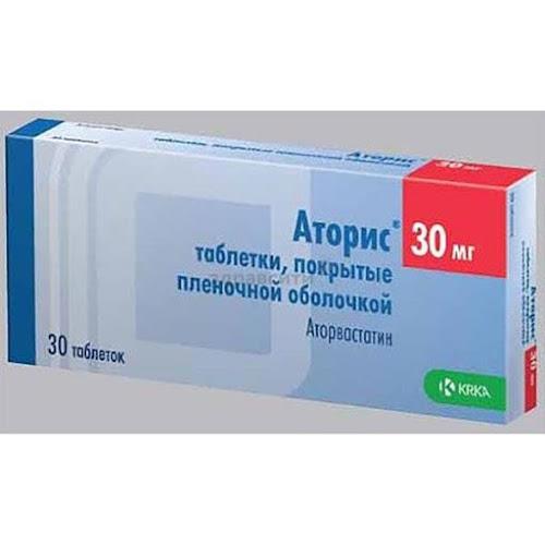 Аторис таблетки п.п.о. 30мг 30 шт.