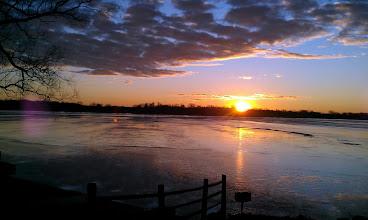 Photo: Walled Lake winter sunset