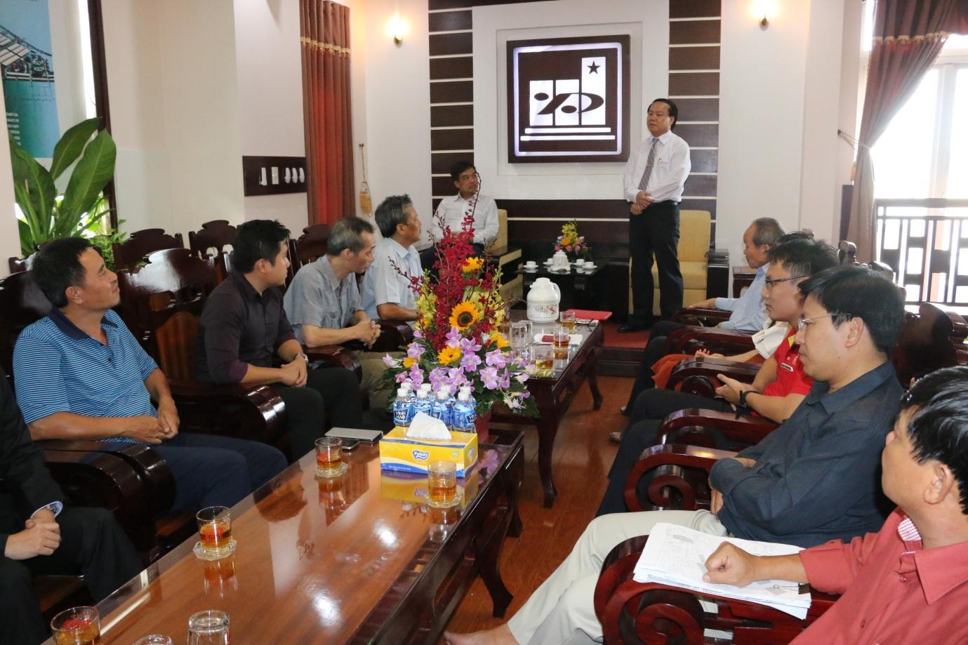 1. Ông Lê Thanh Thuấn - Chủ tịch HĐQT Tập đoàn Sao Mai phát biểu tại buổi lễ.JPG