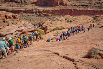Photo: The group hiking down.
