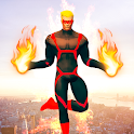 Flying Fire Hero Games: Flying Robot Crime City icon