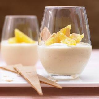 Vanilla Pudding with Oranges