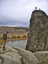Photo: As close as we could get to LaBarge Rock
