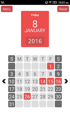 Year View - 12 Month Calendar