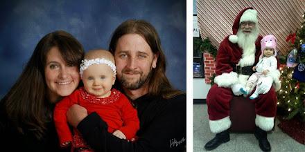 Photo: Torrie Turner Jones Buchanan '02, husband Chris and daughter River.